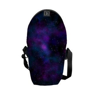 Space beautiful galaxy starry night image messenger bag