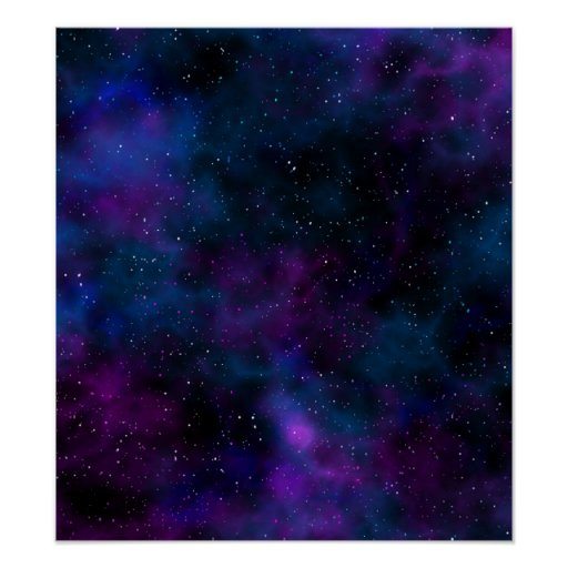 Space beautiful galaxy starry night image poster