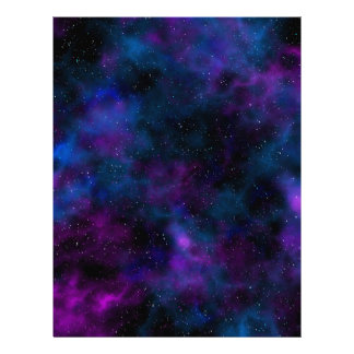 Space beautiful night sky image letterhead