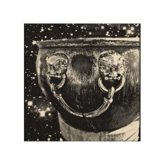 Space Beijing Treasure B&W Wood Print