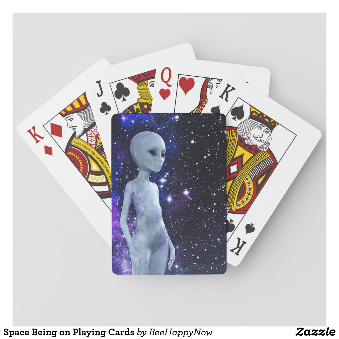 Space Being on Playing Cards