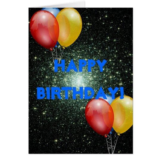 SPACE BIRTHDAY CARD