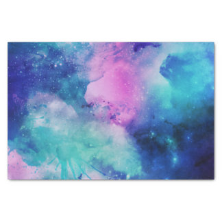 Space Blue Pink Watercolor Star Nebula Universe Tissue Paper