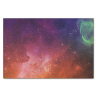 Space Blue Red Watercolor Star Nebula Universe Tissue Paper