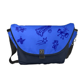 Space blue Rickshaw Messanger Bag