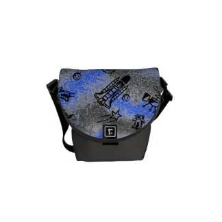 Space blue Rickshaw Messanger Bag Messenger Bags