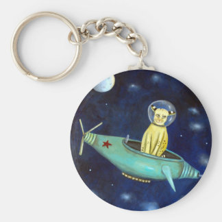 Space Bob Basic Round Button Keychain