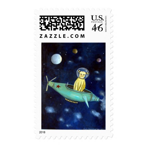 Space Bob Postage Stamp