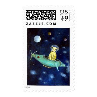 Space Bob Postage Stamp