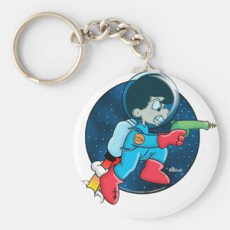 Space Boy Basic Round Button Keychain