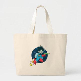 Space Boy Large Tote Bag