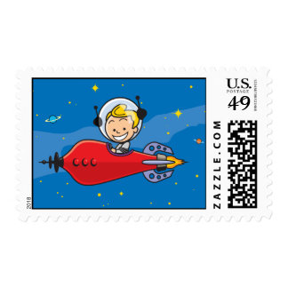Space Boy Stamp