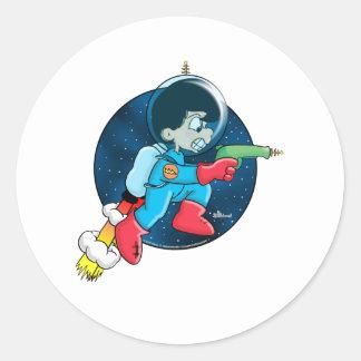 Space Boy Classic Round Sticker