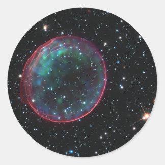 Space Bubble Classic Round Sticker