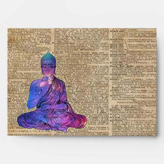Space Buddha Dictionary Art Envelope