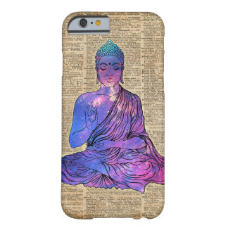 Space Buddha Vintage Dictionary Art Barely There iPhone 6 Case