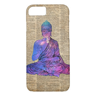 Space Buddha Vintage Dictionary Art iPhone 8/7 Case
