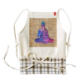 Space Buddha Vintage Dictionary Art Zazzle HEART Apron