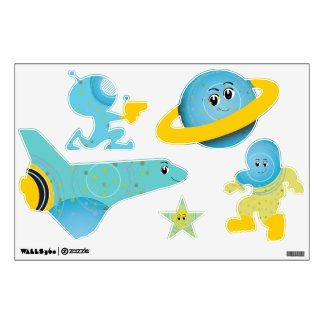 Space Buddies Any Color Baby Boy Girl Room Stickers