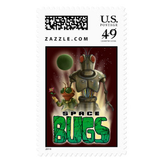 Space Bugs Alpha Stamp