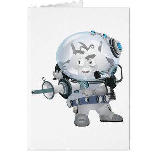 Space Bunny Card