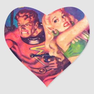 Space Busters Heart Sticker