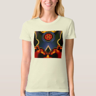 Space buttoned T-Shirt