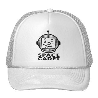 SPACE CADET - black & white Hat