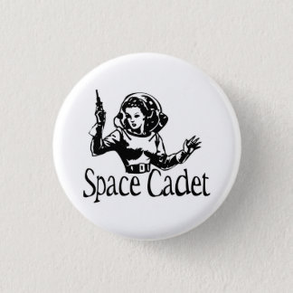 Space Cadet Black & White Pinback Button