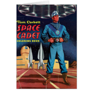 Space Cadet Coloring Book Card