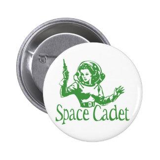 Space Cadet Green Pinback Buttons