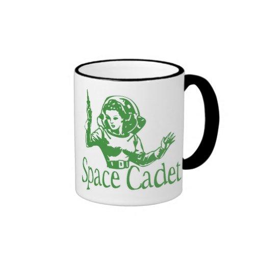 Space Cadet Green Coffee Mugs