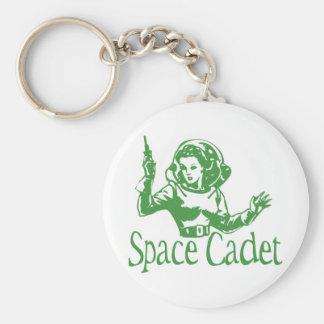 Space Cadet Green Basic Round Button Keychain