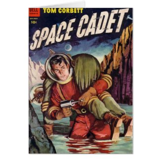 Space Cadet in Water Card