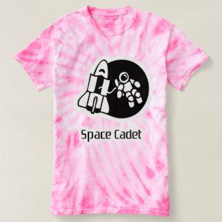 Space Cadet Motif Pink Tie Dyed Tee Shirt