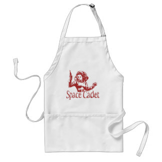 Space Cadet Red Adult Apron