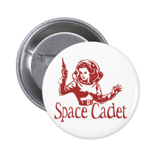 Space Cadet Red Pinback Button