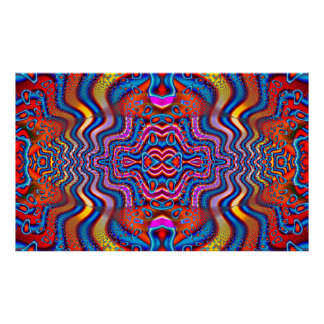 Space Cadet Science Fiction Abstract Poster