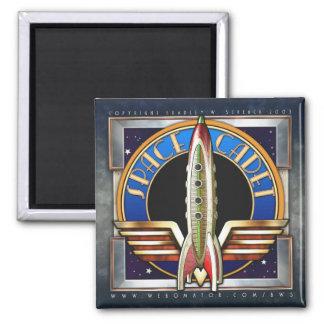 Space Cadet Square Magnet