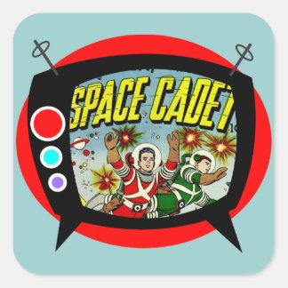 Space Cadet TV Square Sticker
