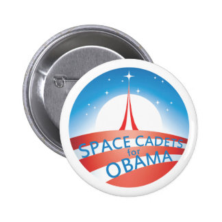 Space Cadets for Obama pin