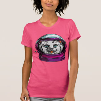space cat astronaut tshirt
