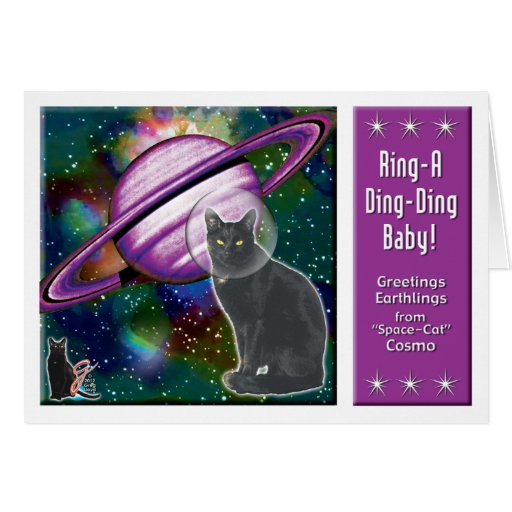 Space-Cat Cosmo Greeting Card