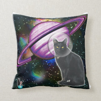 Space-Cat Cosmo Throw Pillow