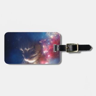 Space Cat Galaxy Travel Bag Tag
