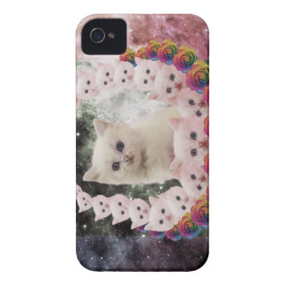 space cat in flowers iPhone 4 Case-Mate case