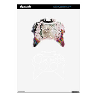 space cat in flowers xbox 360 controller skins