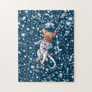 Space Cat Jigsaw Puzzle