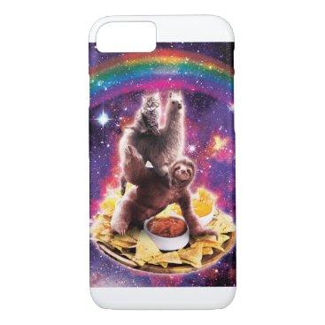 Space Cat Llama Sloth Riding Nachos iPhone 8/7 Case