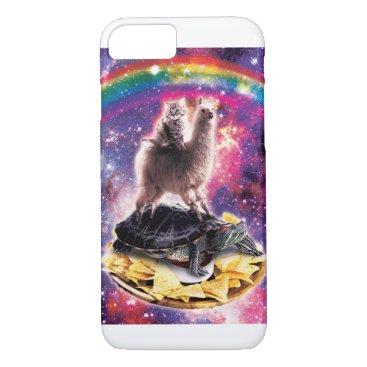 Space Cat Llama Turtle Riding Nachos iPhone 8/7 Case